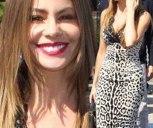 София Вергара в платье итальянского бренда