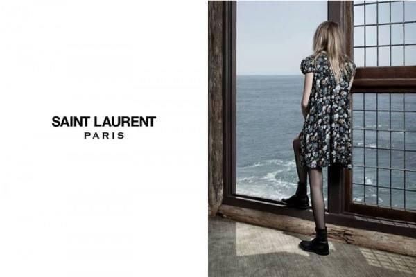 Кара Делевинь лицо осенней кампании Saint Laurent