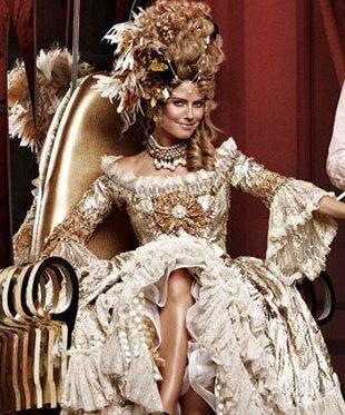 Скандал: Хайди Клум, в роли королевы невольников