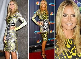 Хайди Клум в шикарном платье от Versace