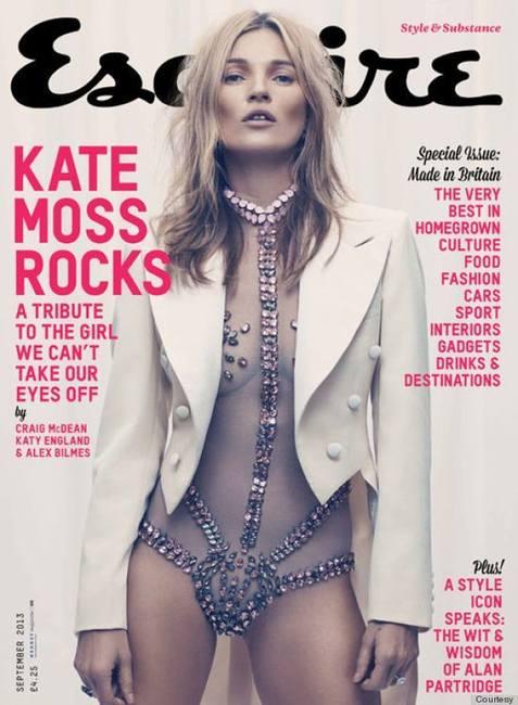 Кейт Мосс в сентябрьском Esquire
