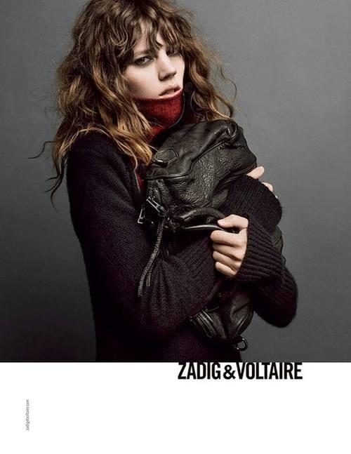 Фрея Беха Эриксен в последней кампании Zadig & Voltaire