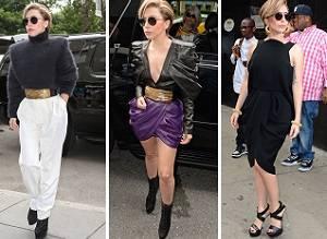 Леди Гага в трех оригинальных стилизациях
