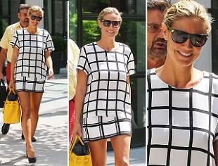 Хайди Клум выбирает короткую юбку