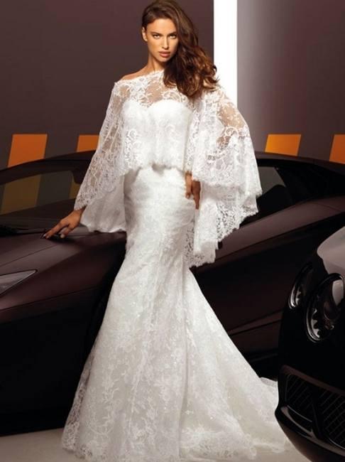 Ирина Шейк в коллекции свадебных платьев Alessandro Angelozzi