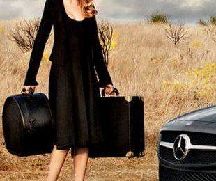 Лара Стоун в кампании Mercedes