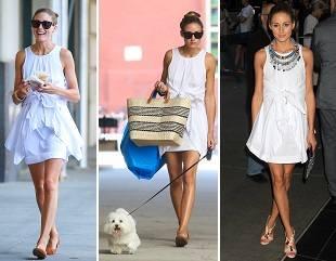 Обувь и платье Оливии Палермо