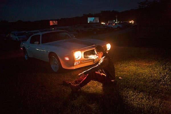 Фотосессия с мятежным духом и автомобилем