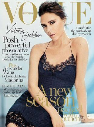 Виктория Бекхэм на обложке Vogue Австралия в сентябре