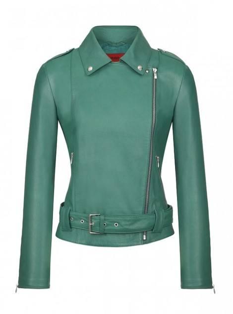 Две стилизации с кожаными куртками от Джессики Альбы
