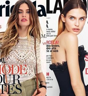 Бьянка Балти на двух обложках Marie Claire