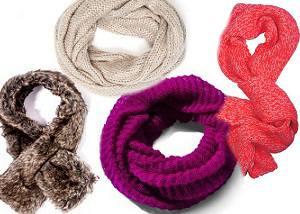 Теплые шарфы и хомуты