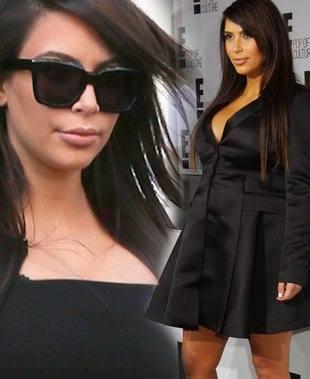 Два маленьких черных платья беременной Ким Кардашян