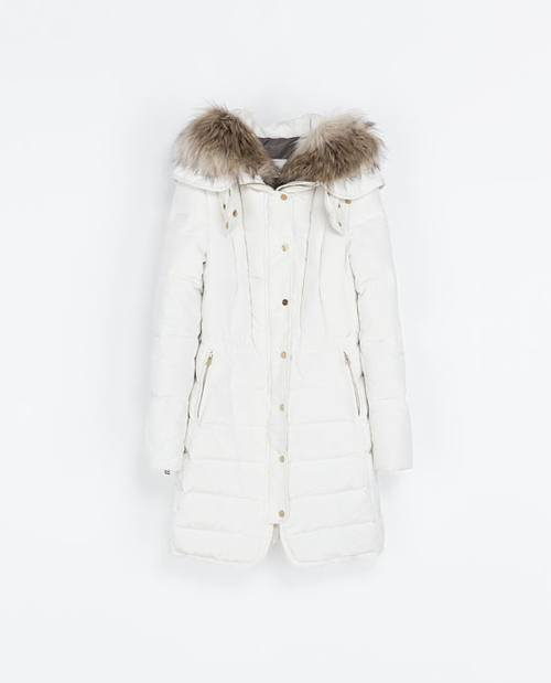 Zara - обзор женских и мужских пуховиков на зиму 2014