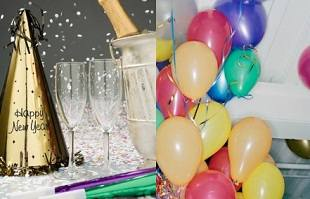 Серпантин, конфетти и шарики с гелием - устраиваем вечеринку