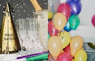 Серпантин, конфетти и шарики с гелием для вечеринки