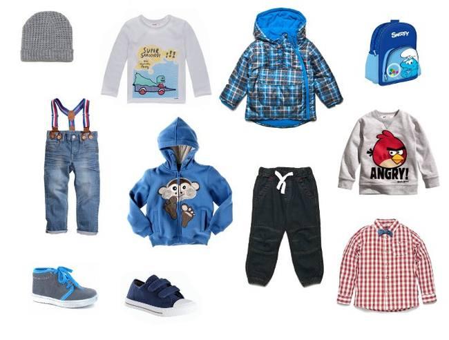 Одежда для мальчиков разного возраста