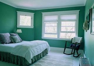 Спальня в оригинальном цвете