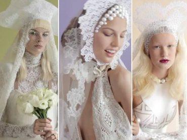 Необычные свадебные наряды для V Magazine