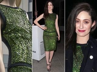 Эмми Россум в платье с блестками от Antonio Berardi