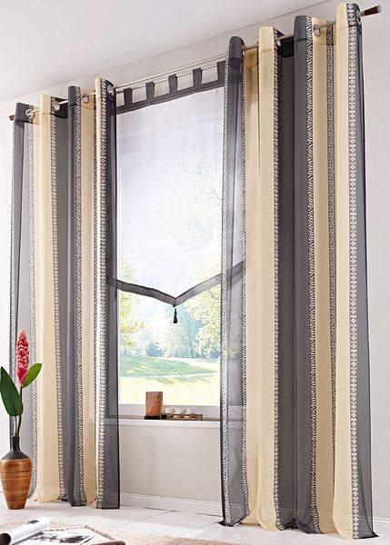 Полосатые шторы в интерьере