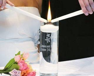 Оригинальные и необычные свадебные свечи