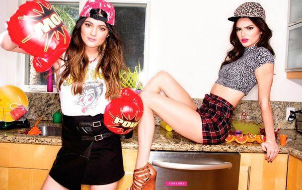Кендалл и Кайли Дженнер в кампании Madden Girl!