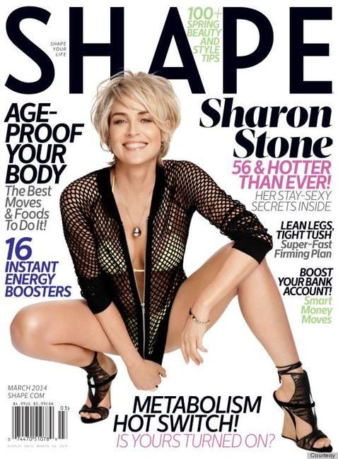 Большой восторг: Шэрон Стоун на обложке Shape