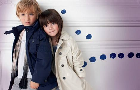 Рекламная кампания Burberry Children