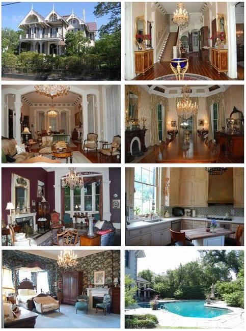 Сандра Баллок и ее викторианский дом в Новом Орлеане