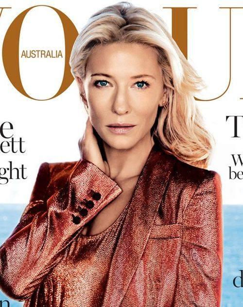 Кейт Бланшетт в Gucci на обложке Vogue Австралия