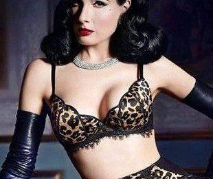 Дита фон Тис и ее сексуальная коллекция нижнего белья