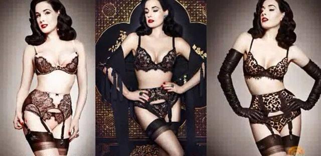 Дита фон Тиз и ее сексуальная коллекция нижнего белья