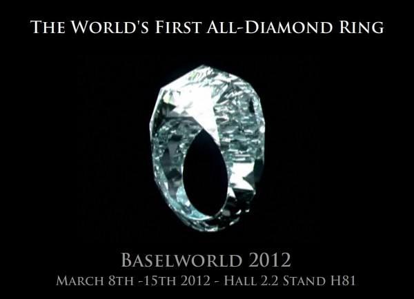 Кольцо из целого бриллианта