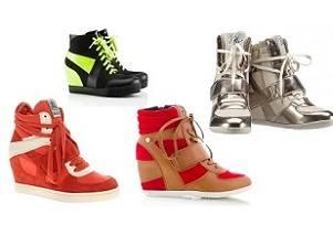 Сникерсы и кроссовки на платформе - обзор