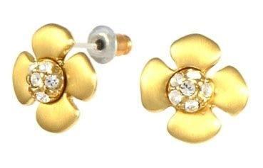 Ювелирные изделия: Золотые серьги цветы