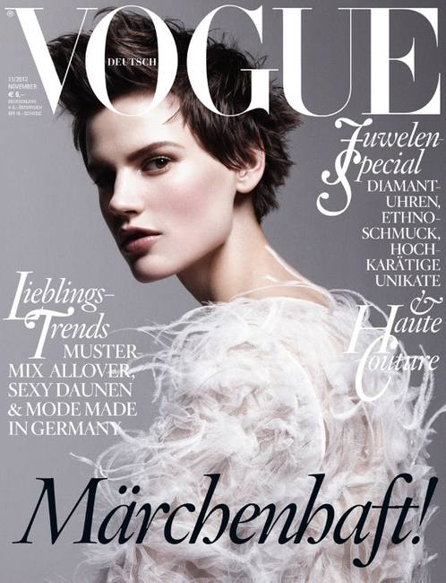 Саския де Браун на обложке немецкого Vogue