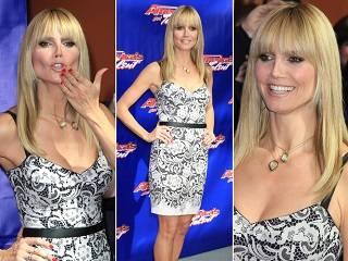 Хайди Клум в платье-карандаш от Dolce & Gabbana