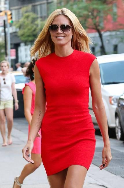 Хайди Клум в том же платье, что и Ким Кардашян!