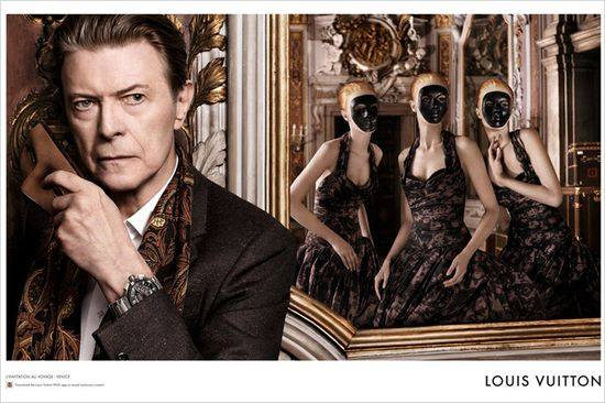 Дэвид Боуи и Аризона Мьюз для Louis Vuitton кампании