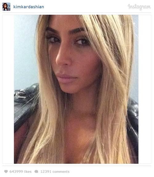 Ким Кардашян - назад в блондинку!