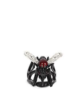 Оригинальное кольцо с комаром
