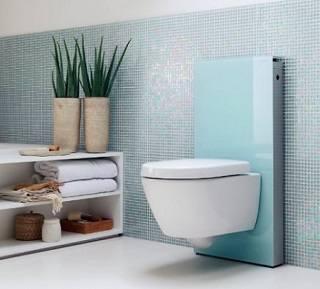 Подвесные унитазы и биде в ванной комнате